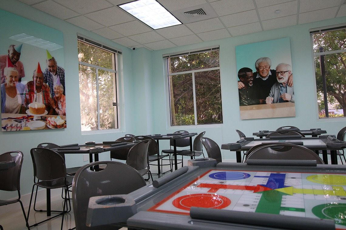 century medical centers table games activity area